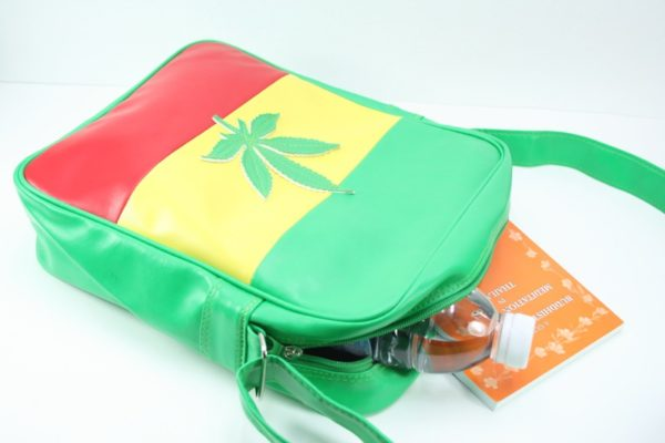 Bag Vinyl Big Size Shoulder Ganja Leaf