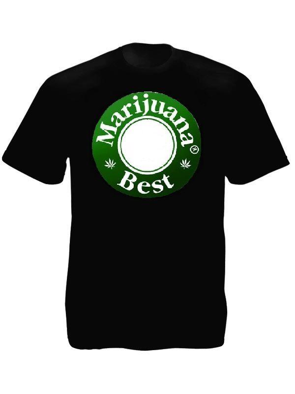 Best Marijuana Beer Caps Tee-Shirt Black