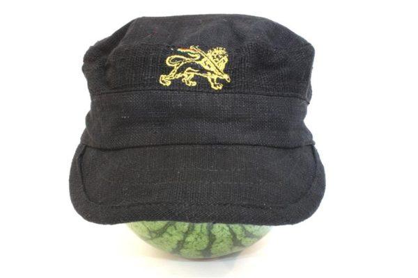 Cap Hemp Black Lion of Judah Gold