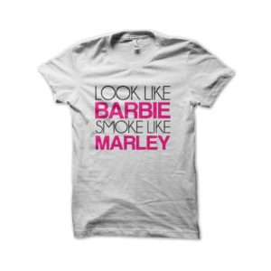 Rasta Tee-Shirt Barbie smoke like bob marley t-shirt