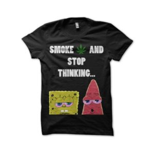 Rasta Tee-Shirt Black t-shirt Stop Thinking
