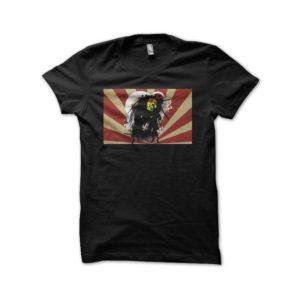 Rasta Tee-Shirt Bob Marley T-shirt on black Japanese rays