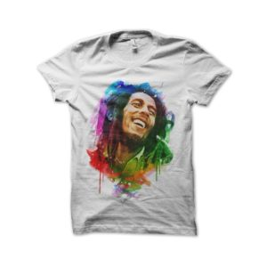 Rasta Tee-Shirt Bob marley watercolor t-shirt