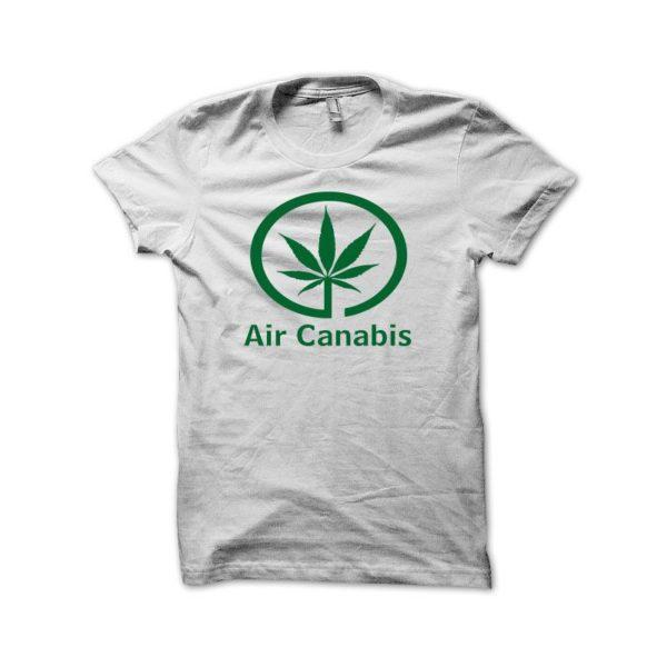 Rasta Tee-Shirt Cannabis parody shirt air air canada green white