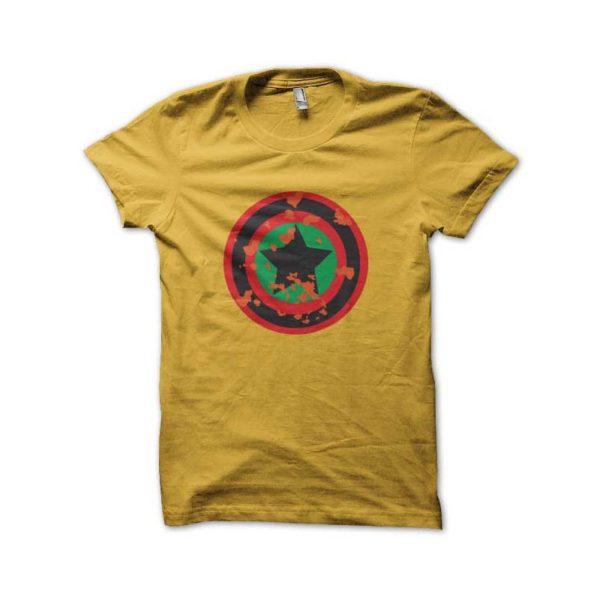 Rasta Tee-Shirt Captain yellow shirt rasta