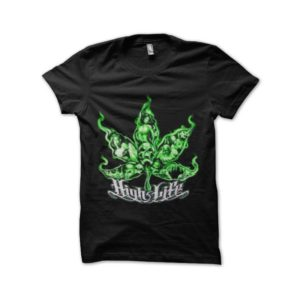 Rasta Tee-Shirt Ganja high light marijuana t-shirt