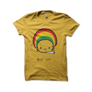 Rasta Tee-Shirt Hello kitty t-shirt parody bedo kitty yellow