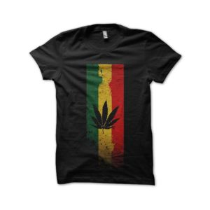 Rasta Tee-Shirt Jamaican black shirt dreapeau