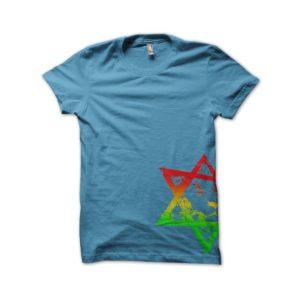 Rasta Tee-Shirt LION of JUDAH shirt version of azure