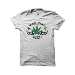 Rasta Tee-Shirt Marijuana Muscle shirt white