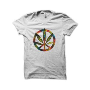 Rasta Tee-Shirt Marijuana rainbow t-shirt
