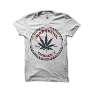 Rasta Tee-Shirt Marijuana smoker's t-shirt white