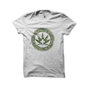 Rasta Tee-Shirt Medical marijuana t-shirt white