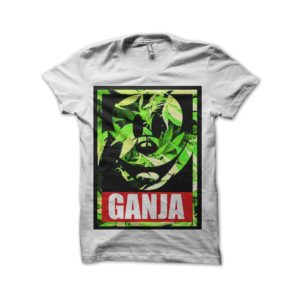 Rasta Tee-Shirt Mickey ganja white t-shirt