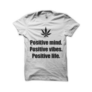Rasta Tee-Shirt Positive mind positive vibes positives life