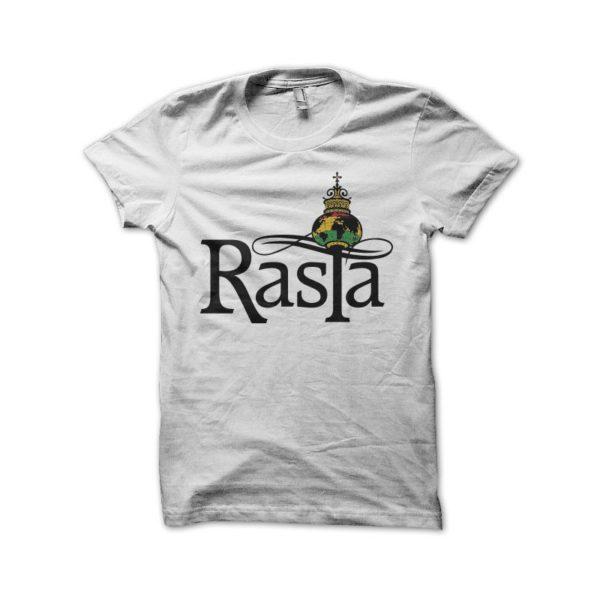Rasta Tee-Shirt Rasta Rastafari symbol t-shirt white
