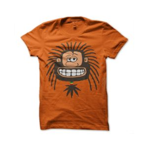 Rasta Tee-Shirt Rastaman orange shirt