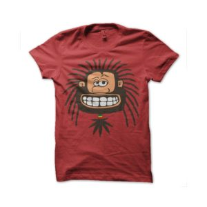 Rasta Tee-Shirt Rastaman red tee shirt