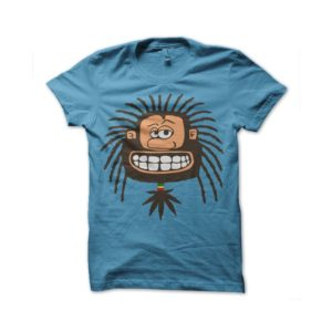 Rasta Tee-Shirt Rastaman t-shirt sky blue
