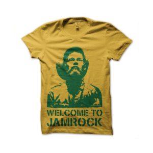 Rasta Tee-Shirt Reggae rock jami yellow t-shirt