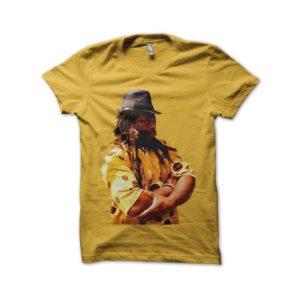 Rasta Tee-Shirt Shirt Beta Simon portrait uncommon yellow