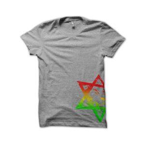 Rasta Tee-Shirt Shirt LION of JUDAH original GREY
