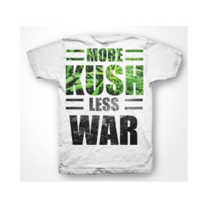Rasta Tee-Shirt Shirt More Less War Kush White