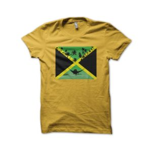 Rasta Tee-Shirt Shirt Sweet love in Jamaica Yellow