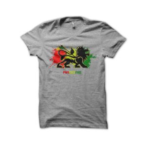 Rasta Tee-Shirt Shirt gray roots reggae music
