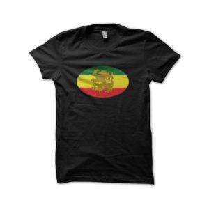 Rasta Tee-Shirt Shirt medallion black rasta