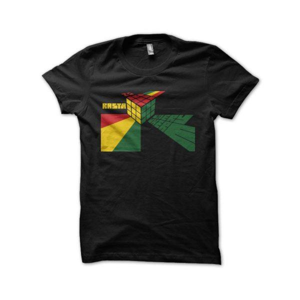 Rasta Tee-Shirt Shirt rasta black parody Rubik's Cube