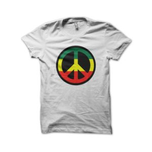 Rasta Tee-Shirt Shirt rasta white wheel of Peace