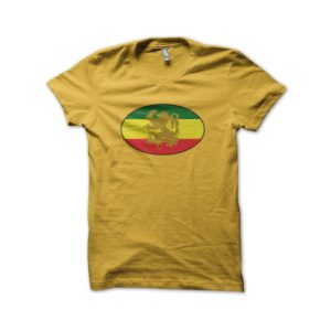 Rasta Tee-Shirt Shirt rasta yellow badge