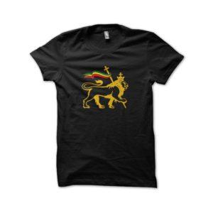 Rasta Tee-Shirt Shirt rastafarl black lion