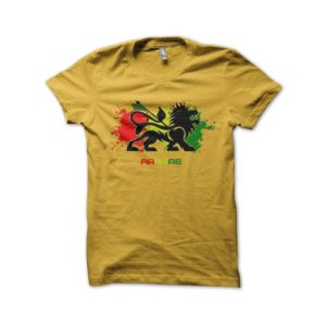 Rasta Tee-Shirt Shirt reggae roots music yellow