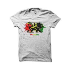 Rasta Tee-Shirt Shirt white reggae roots music
