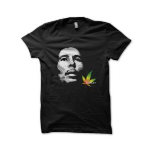 Rasta Tee-Shirt T-Shirt Bob Marley shadow black cannabis leaf