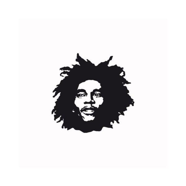Rasta Tee-Shirt T-shirt Bob Marley black white
