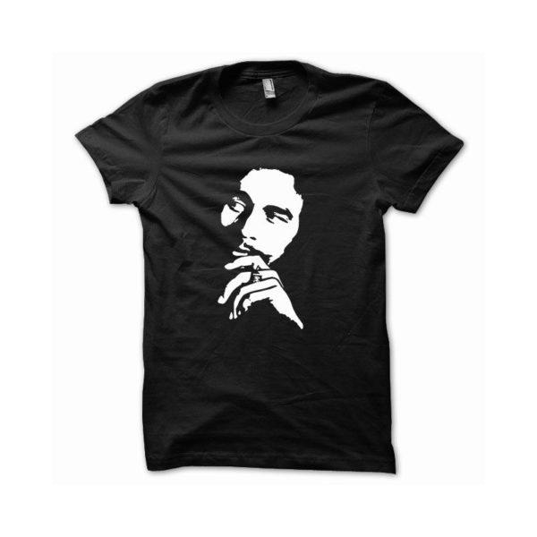 Rasta Tee-Shirt T-shirt Bob Marley white black