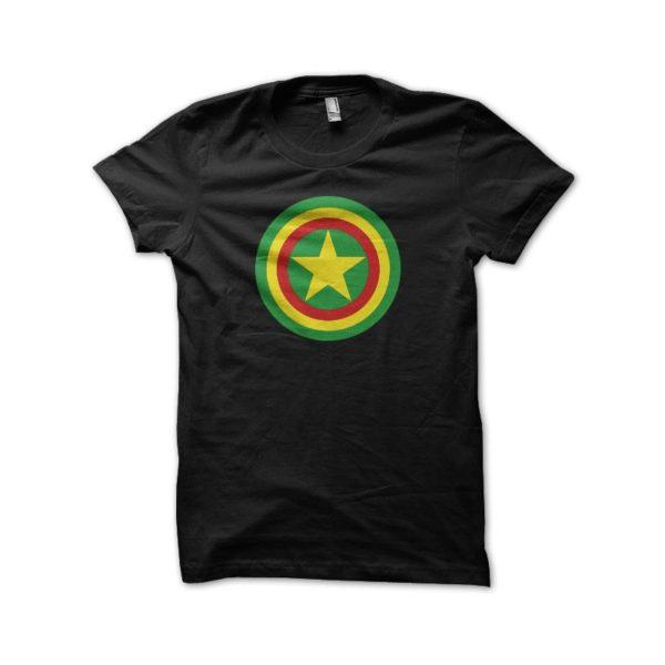 Rasta Tee-Shirt T-shirt Captain Rasta parody Captain America black