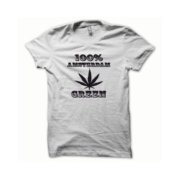 Rasta Tee-Shirt T-shirt Marijuana Hemp Amsterdam black white