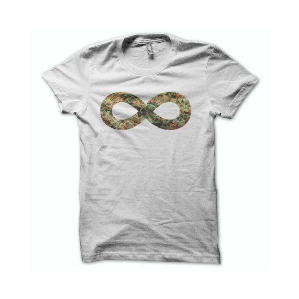 Rasta Tee-Shirt T-shirt Marijuana infiny green white