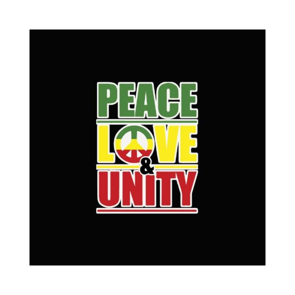 Rasta Tee-Shirt T-shirt Peace love & unity black