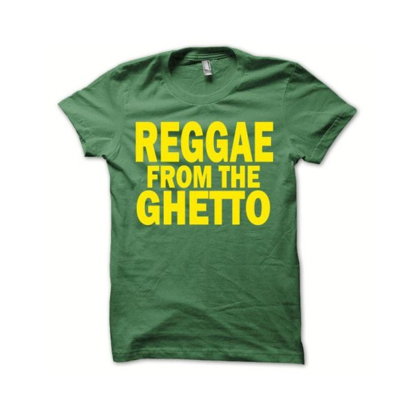 Rasta Tee-Shirt T-shirt Rasta from the ghetto yellow green