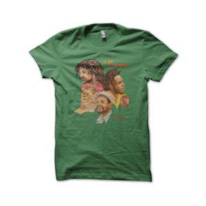Rasta Tee-Shirt T-shirt The Mighty Diamonds Reggae Street green