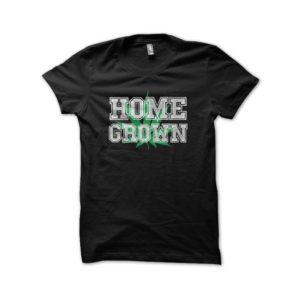 Rasta Tee-Shirt T-shirt black cannabis Home Grown