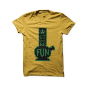 Rasta Tee-Shirt T-shirt c bang is fun ganja