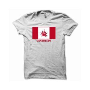 Rasta Tee-Shirt T-shirt flag canada flag cannabis canaweed white