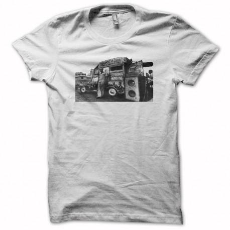 Rasta Tee-Shirt T-shirt reggae sound system rastafarl white
