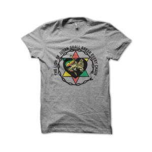 Rasta Tee-Shirt T-shirt the lion of judah gray